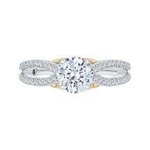 Load image into Gallery viewer, CA0169EH-37WY Bridal Jewelry Carizza White Gold Rose Gold Yellow Gold Round Diamond Engagement Rings