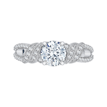Load image into Gallery viewer, CA0172EH-37W Bridal Jewelry Carizza White Gold Round Diamond Engagement Rings
