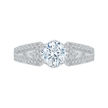Load image into Gallery viewer, CA0174EH-37W Bridal Jewelry Carizza White Gold Round Diamond Engagement Rings