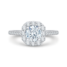 Load image into Gallery viewer, CA0177EH-37W Bridal Jewelry Carizza White Gold Round Diamond Halo Engagement Rings