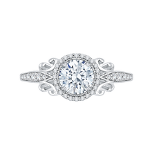Load image into Gallery viewer, CA0181EH-37W Bridal Jewelry Carizza White Gold Round Diamond Halo Engagement Rings