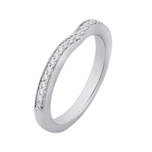 Load image into Gallery viewer, Half Eternity Round Diamond Wedding Band In 14K White Gold