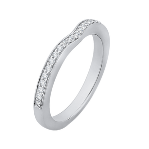 Half Eternity Round Diamond Wedding Band In 14K White Gold