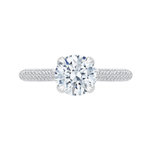 Load image into Gallery viewer, CA0185EQ-37W-1.50 Bridal Jewelry Carizza White Gold Round Diamond Engagement Rings