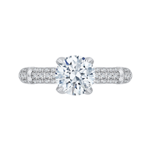 Load image into Gallery viewer, CA0187EYLQ-37W-1.50 Bridal Jewelry Carizza White Gold Round Diamond Engagement Rings