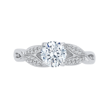 Load image into Gallery viewer, CA0188E-37W Bridal Jewelry Carizza White Gold Round Diamond Engagement Rings