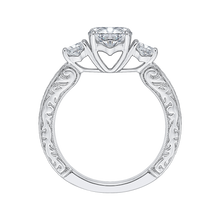 Load image into Gallery viewer, 14K White Gold Round Diamond Three Stone Engagement Ring (Semi Mount)