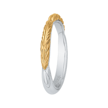 Load image into Gallery viewer, 14K Two Tone Gold Plain Wedding Band
