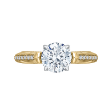Load image into Gallery viewer, CA0203E-37WY-1.50 Bridal Jewelry Carizza White Gold Rose Gold Yellow Gold Round Diamond Engagement Rings