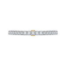 Load image into Gallery viewer, CA0204B-37WY Bridal Jewelry Carizza White Gold Rose Gold Yellow Gold Round Diamond Wedding Bands