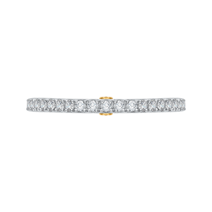 CA0204B-37WY Bridal Jewelry Carizza White Gold Rose Gold Yellow Gold Round Diamond Wedding Bands
