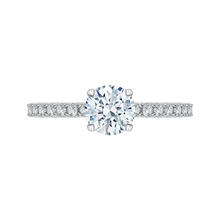 Load image into Gallery viewer, CA0209E-37W Bridal Jewelry Carizza White Gold Round Diamond Engagement Rings