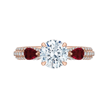 Load image into Gallery viewer, CA0211EH-R37P-1.50 Bridal Jewelry Carizza Rose Gold Round Diamond Engagement Rings
