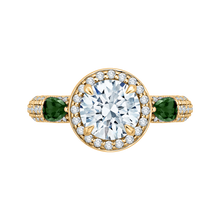 Load image into Gallery viewer, CA0217E-GS37-1.50 Bridal Jewelry Carizza Yellow Gold Round Diamond Engagement Rings