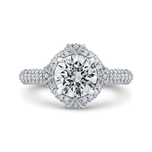 Load image into Gallery viewer, CA0227EQ-37W-1.50 Bridal Jewelry Carizza White Gold Round Diamond Engagement Rings