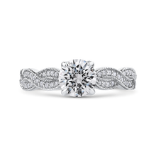 Load image into Gallery viewer, CA0228EQ-37W Bridal Jewelry Carizza White Gold Round Diamond Engagement Rings