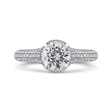 Load image into Gallery viewer, CA0229EH-37W Bridal Jewelry Carizza White Gold Round Diamond Engagement Rings