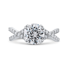 Load image into Gallery viewer, CA0231EQ-37W-2.00 Bridal Jewelry Carizza White Gold Round Diamond Engagement Rings