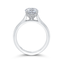 Load image into Gallery viewer, 14K White Gold Round Diamond Classic Engagement Ring (Semi Mount)