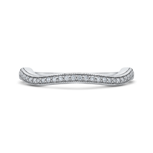 Load image into Gallery viewer, CA0242BH-37W-1.00 Bridal Jewelry Carizza White Gold Round Diamond Wedding Bands