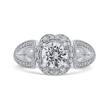 Load image into Gallery viewer, CA0242EH-37W-1.00 Bridal Jewelry Carizza White Gold Round Diamond Halo Engagement Rings