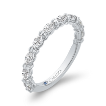 Load image into Gallery viewer, 14K White Gold Marquise Diamond Wedding Band