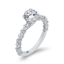 Load image into Gallery viewer, 14K White Gold Round Cut Diamond Engagement Ring (Semi Mount)