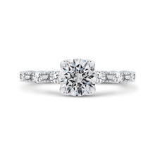 Load image into Gallery viewer, CA0252E-37W-1.00 Bridal Jewelry Carizza White Gold Round Diamond Engagement Rings
