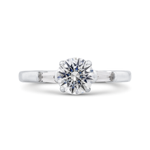 Load image into Gallery viewer, CA0254E-37W-1.00 Bridal Jewelry Carizza White Gold Round Diamond Engagement Rings