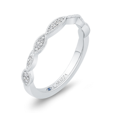 Load image into Gallery viewer, 14K White Gold Round Diamond Infinity Wedding Band