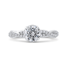 Load image into Gallery viewer, CA0260EQ-37W-1.00 Bridal Jewelry Carizza White Gold Round Diamond Engagement Rings