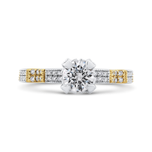 Load image into Gallery viewer, CA0264EQ-37WY-1.50 Bridal Jewelry Carizza White Gold Rose Gold Yellow Gold Round Diamond Engagement Rings