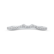 Load image into Gallery viewer, CA0267BQ-37W Bridal Jewelry Carizza White Gold Round Diamond Wedding Bands