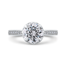 Load image into Gallery viewer, CA0268EH-37W-1.50 Bridal Jewelry Carizza White Gold Round Diamond Engagement Rings