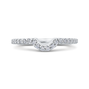 CA0271BH-37W-1.50 Bridal Jewelry Carizza White Gold Round Diamond Wedding Bands