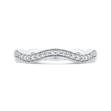 Load image into Gallery viewer, CA0272B-37W-1.00 Bridal Jewelry Carizza White Gold Round Diamond Wedding Bands