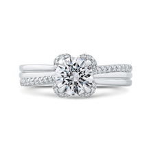 Load image into Gallery viewer, CA0275EH-37W-1.00 Bridal Jewelry Carizza White Gold Round Diamond Engagement Rings