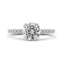 Load image into Gallery viewer, CA0276EQ-37W-1.50 Bridal Jewelry Carizza White Gold Round Diamond Engagement Rings
