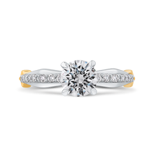 Load image into Gallery viewer, CA0278EQ-37WY-1.00 Bridal Jewelry Carizza White Gold Round Diamond Engagement Rings