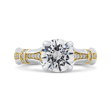 Load image into Gallery viewer, CA0279EH-37WY-2.00 Bridal Jewelry Carizza White Gold Rose Gold Yellow Gold Round Diamond Engagement Rings