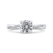 Load image into Gallery viewer, CA0284E-37W-1.00 Bridal Jewelry Carizza White Gold Round Diamond Engagement Rings