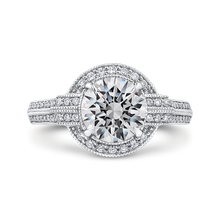Load image into Gallery viewer, CA0286EH-37W-2.00 Bridal Jewelry Carizza White Gold Round Diamond Engagement Rings