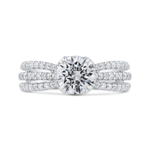 Load image into Gallery viewer, CA0403EQ-37W-1.50 Bridal Jewelry Carizza White Gold Round Diamond Engagement Rings