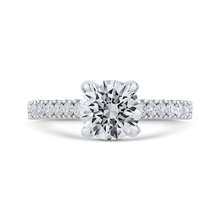 Load image into Gallery viewer, CA0412EH-37W-1.50 Bridal Jewelry Carizza White Gold Round Diamond Engagement Rings