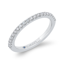 Load image into Gallery viewer, 14K White Gold Round Half Eternity Diamond Wedding Band
