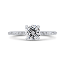 Load image into Gallery viewer, CA0413EH-37W-1.00 Bridal Jewelry Carizza White Gold Round Diamond Engagement Rings