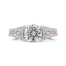 Load image into Gallery viewer, CA0414EH-37WP-1.50 Bridal Jewelry Carizza White Gold Rose Gold Yellow Gold Round Diamond Engagement Rings