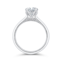 Load image into Gallery viewer, 14K White Gold Round Diamond Engagement Ring (Semi Mount)