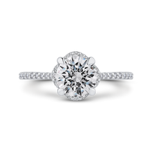 Load image into Gallery viewer, CA0418EH-37W-1.50 Bridal Jewelry Carizza White Gold Round Diamond Engagement Rings