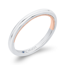 Load image into Gallery viewer, Plain Wedding Band In 14K Two Tone Gold